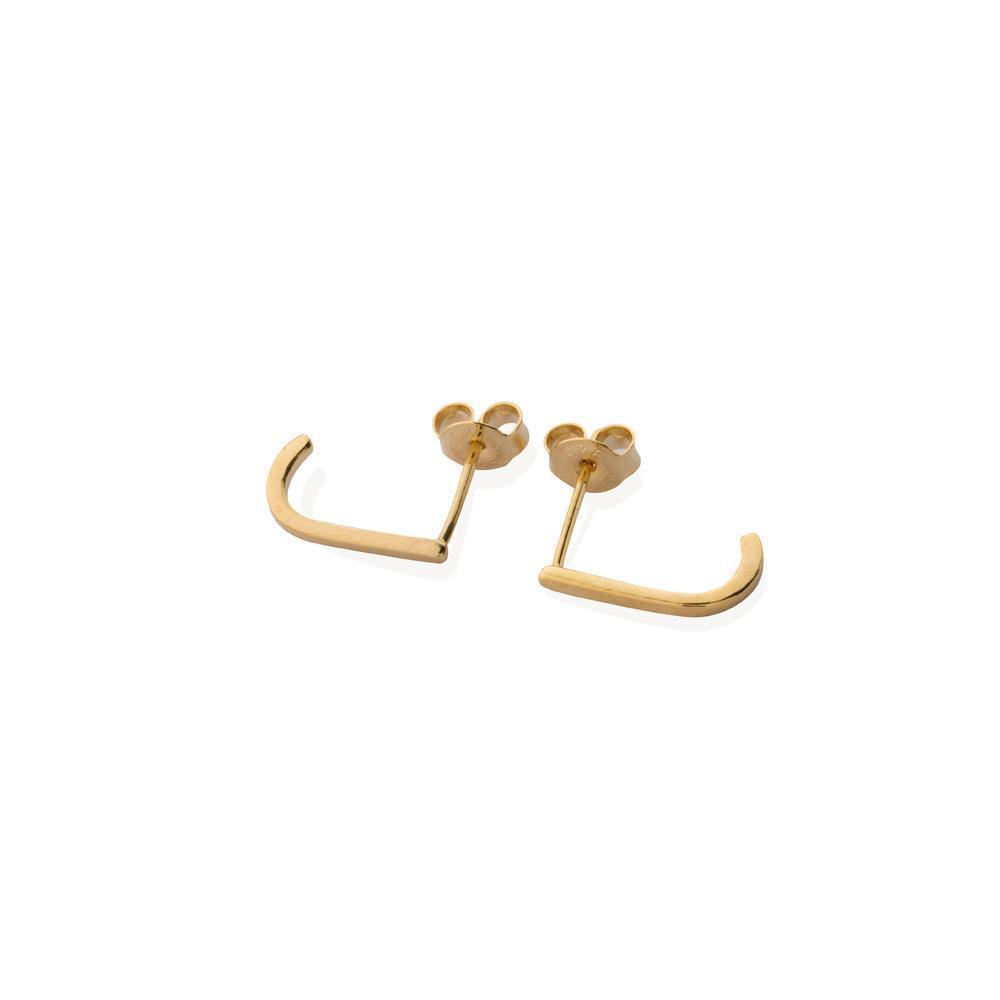 HADLEY PLAIN GOLD SUSPENDERS-Earrings-MEZI