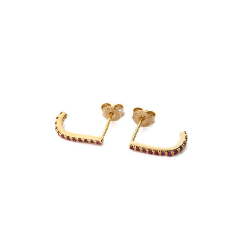 HADLEY PINK/GOLD CRYSTAL SUSPENDERS-Earrings-MEZI