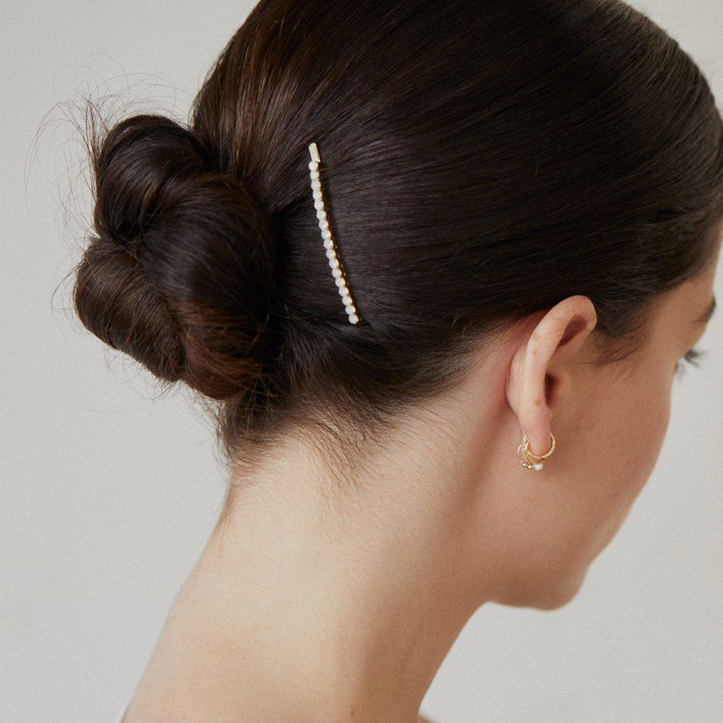 MILANA WHITE CRYSTAL HAIR PIN