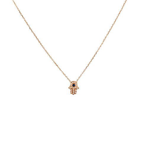 HAND OF FATIMA ROSE GOLD PENDANT