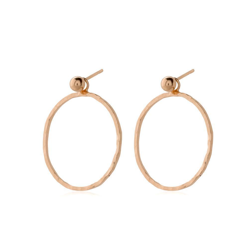 HARPER ROSE GOLD HOLLOW DROP EARRINGS