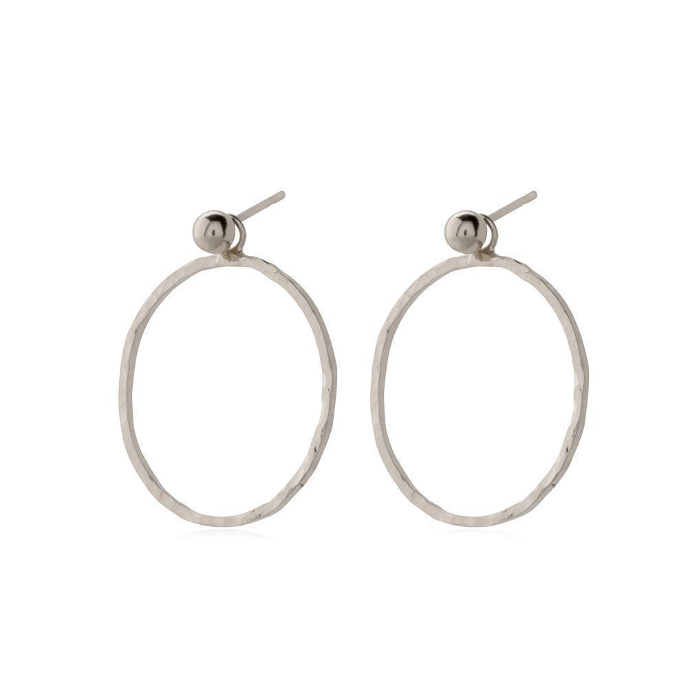 HARPER SILVER HOLLOW DROP EARRINGS-Earrings-MEZI