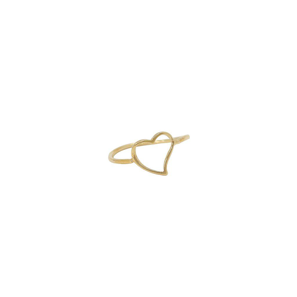 HEART HOLLOW 2 MICRON GOLD RING