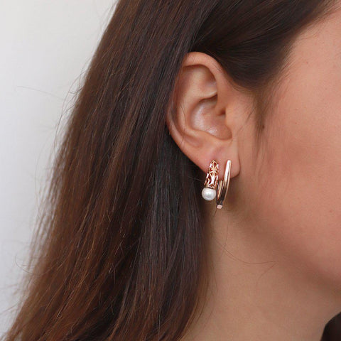 DARIA FILIGREE ROSE GOLD EARRINGS