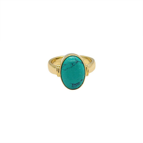 HELMA GOLD FILLED TURQUOISE SEMI-PRECIOUS RING