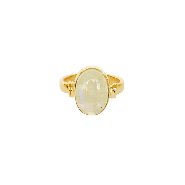 HELMA GOLD FILLED MOONSTONE SEMI-PRECIOUS RING