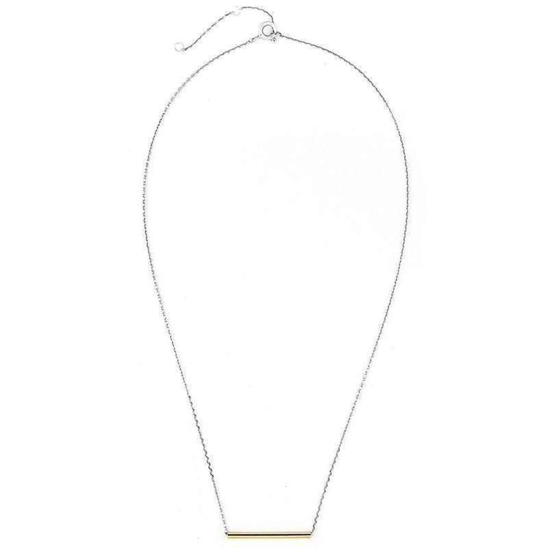 HODIE GOLD BAR NECKLACE-Necklaces-MEZI