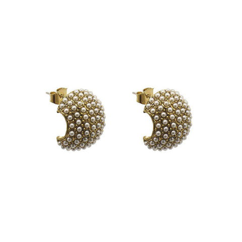 HOLMES ANTIQUE PEARL STUD EARRINGS