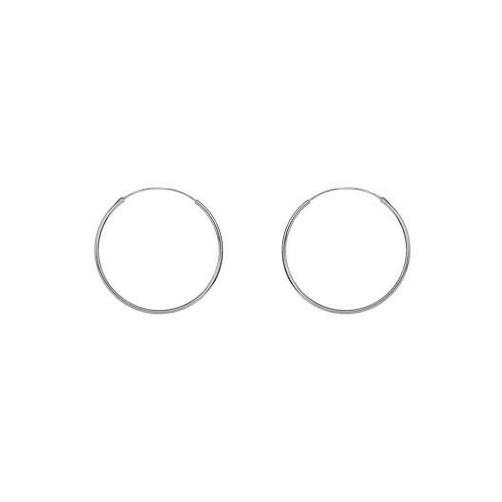 PLAIN HOOPS STERLING SILVER 2CM