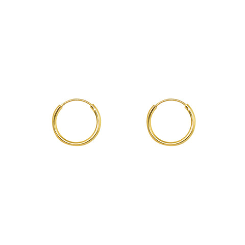 HOOPS GOLD FILLED 1.2 CM