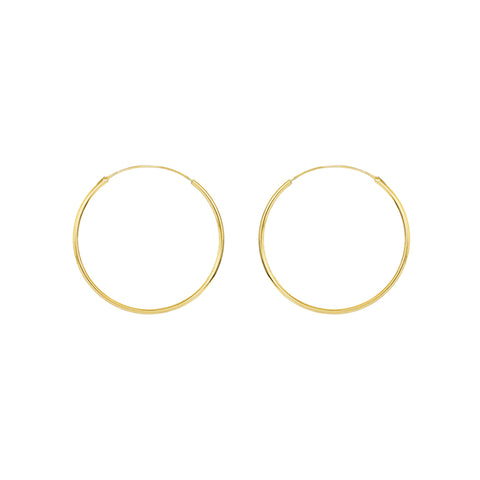 HOOPS GOLD FILLED 3.5 CM