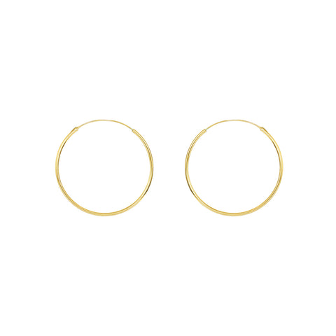 HOOPS GOLD FILLED 3 CM