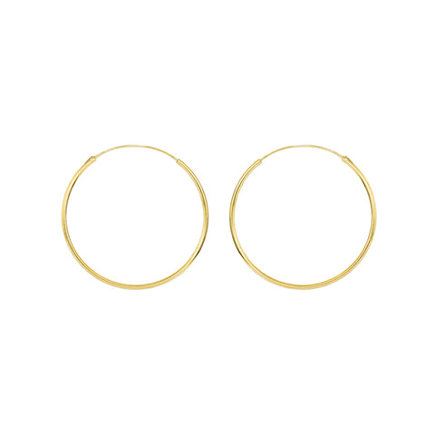 HOOPS GOLD FILLED 4 CM