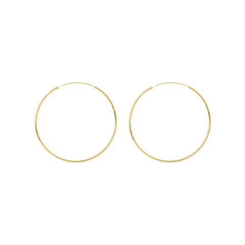 HOOPS GOLD FILLED 5 CM