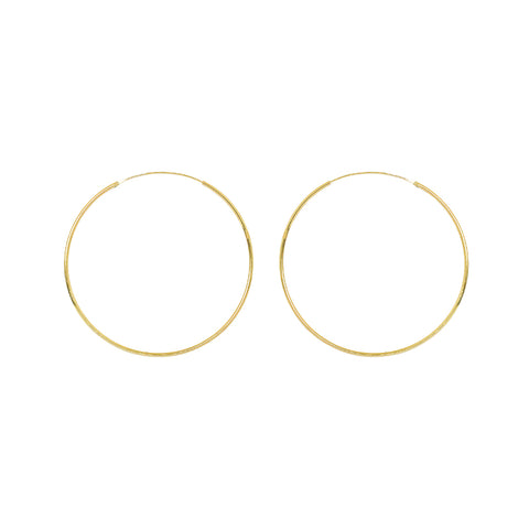 HOOPS GOLD FILLED 6 CM