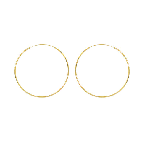 HOOPS GOLD FILLED 7 CM