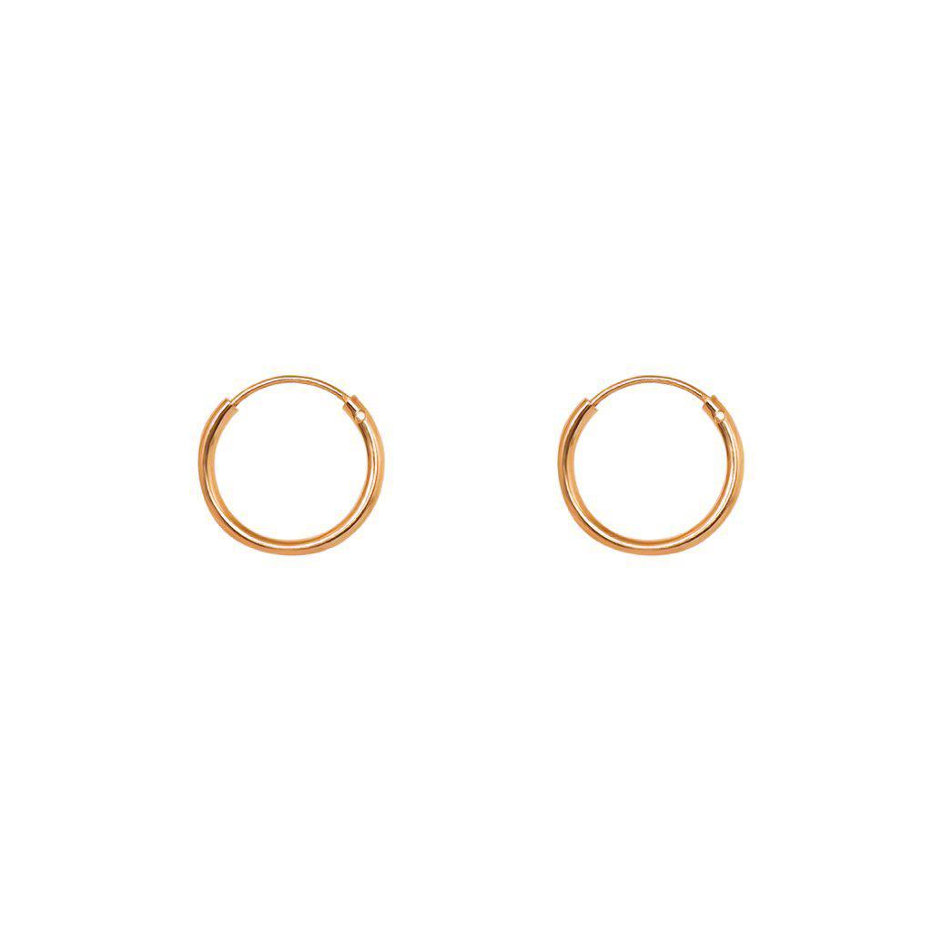 PLAIN HOOPS 2 MICRON ROSE GOLD PLATED 1.3CM