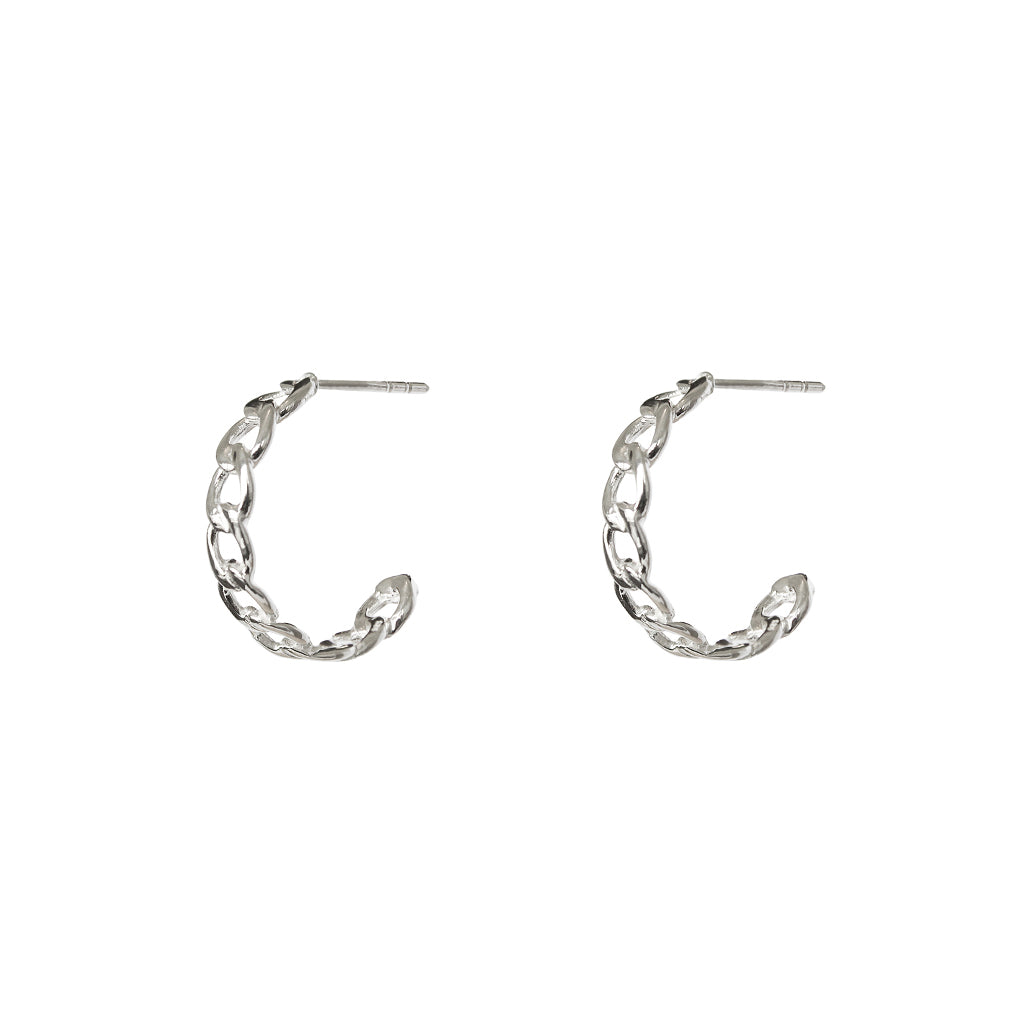 HURON STERLING SILVER HOOPS