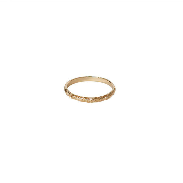 IDELLA FILIGREE 2 MICRON GOLD RING