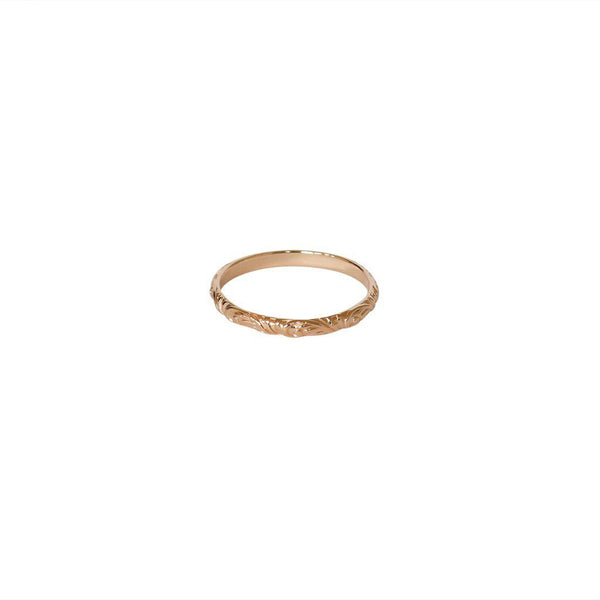 IDELLA FILIGREE 2 MICRON ROSE GOLD RING