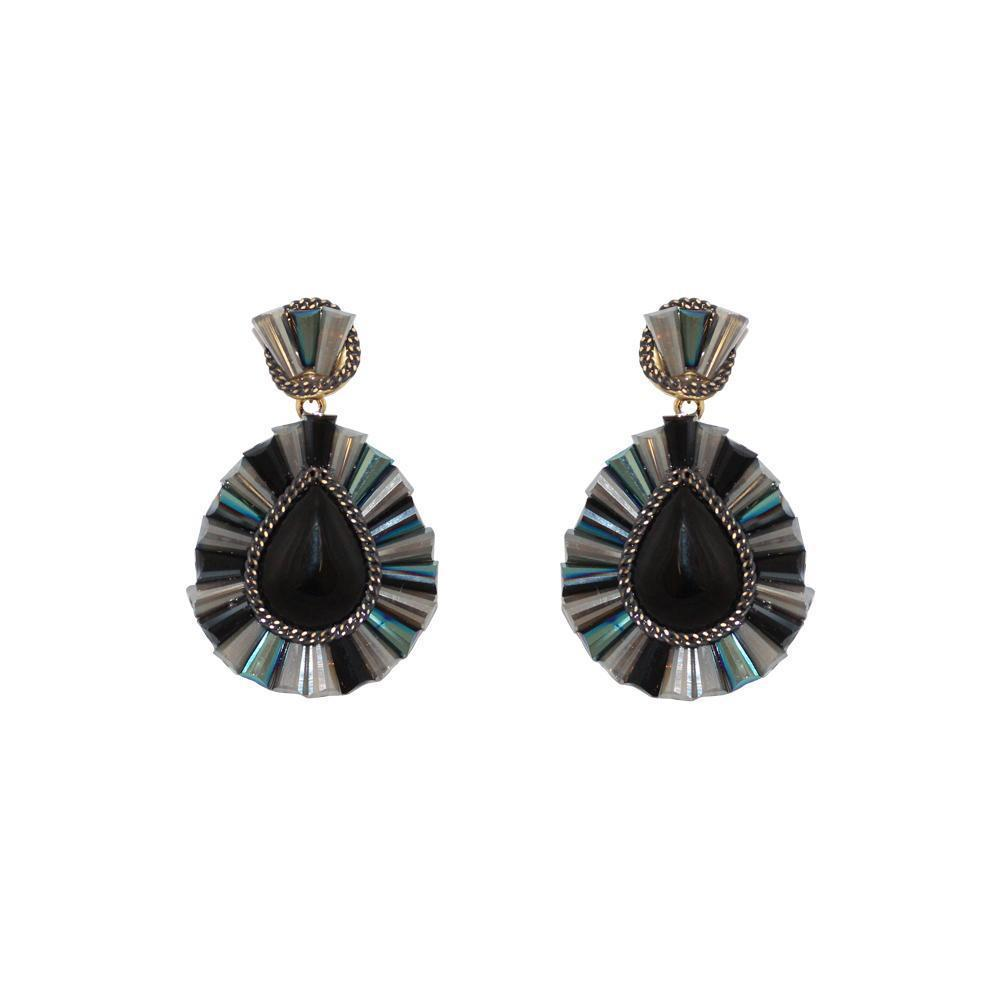 IMANI MONTANA BLACK DROP EARRINGS-Earrings-MEZI
