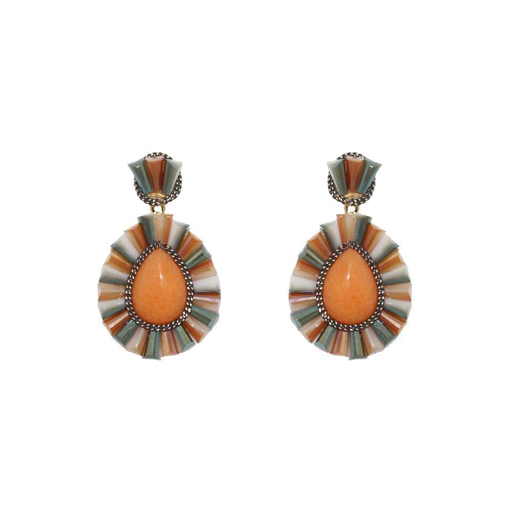 IMANI ORANGE DROP EARRINGS