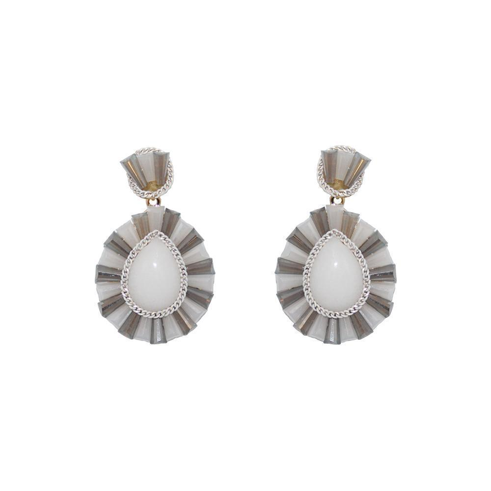 IMANI WHITE DROP EARRINGS