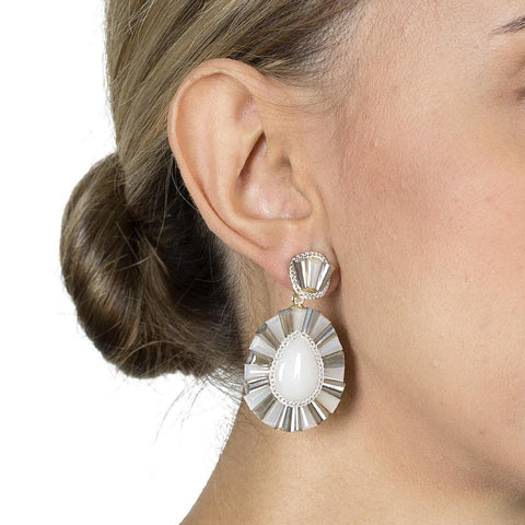 IMANI WHITE DROP EARRINGS-Earrings-MEZI