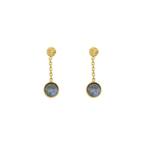 IMELDA LABRADORITE SEMI PRECIOUS STONE EARRINGS