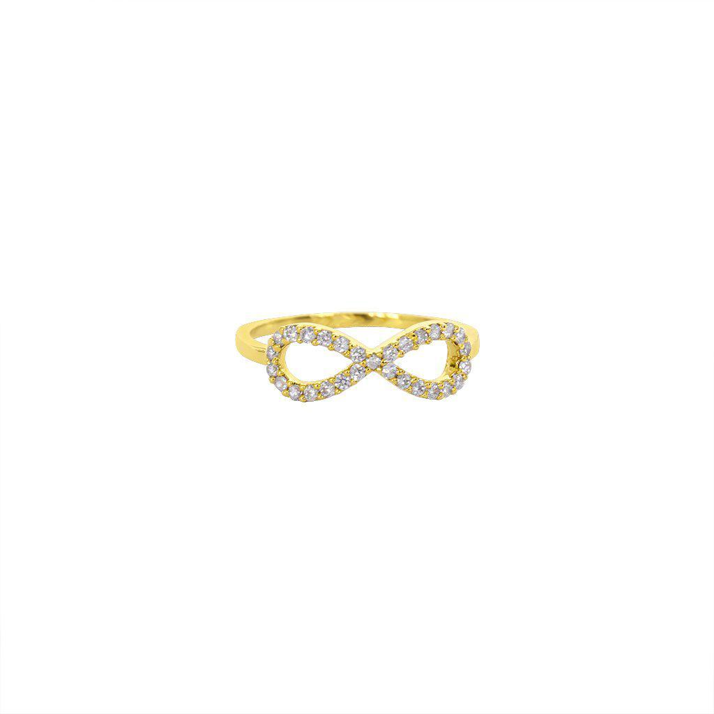 INFINITY CRYSTAL GOLD RING