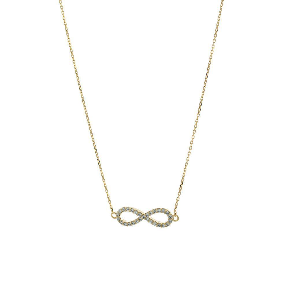 INFINITY GOLD CRYSTAL NECKLACE-Necklaces-MEZI