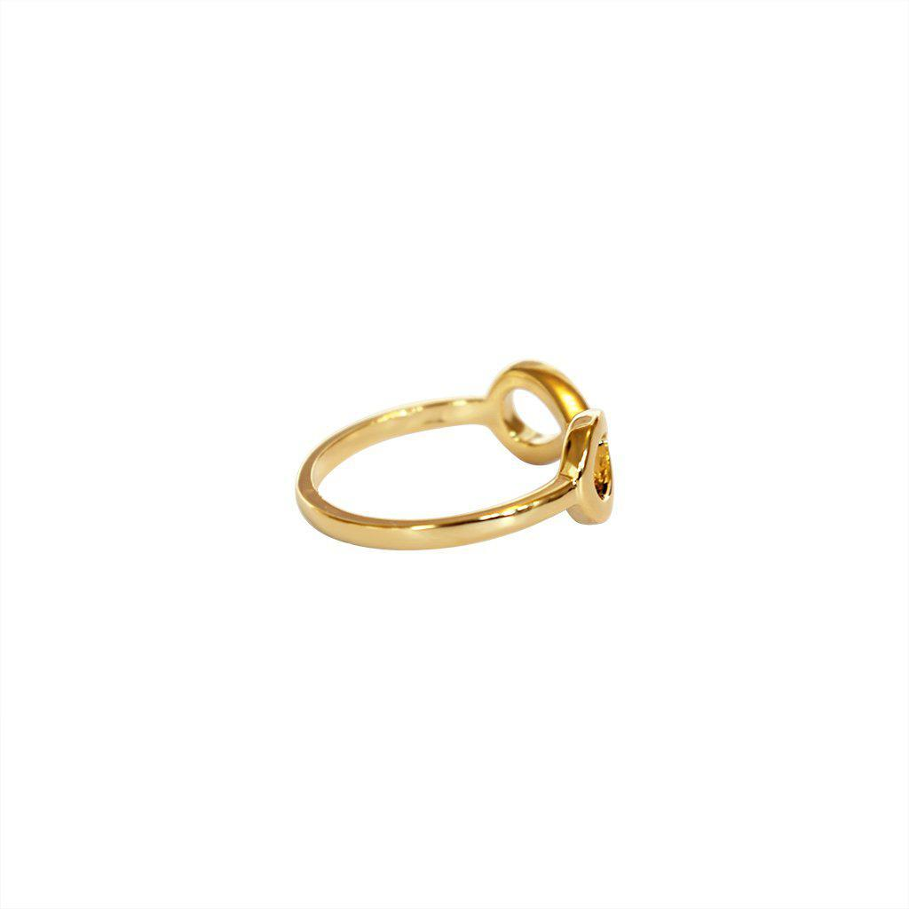 INFINITY PLAIN GOLD RING