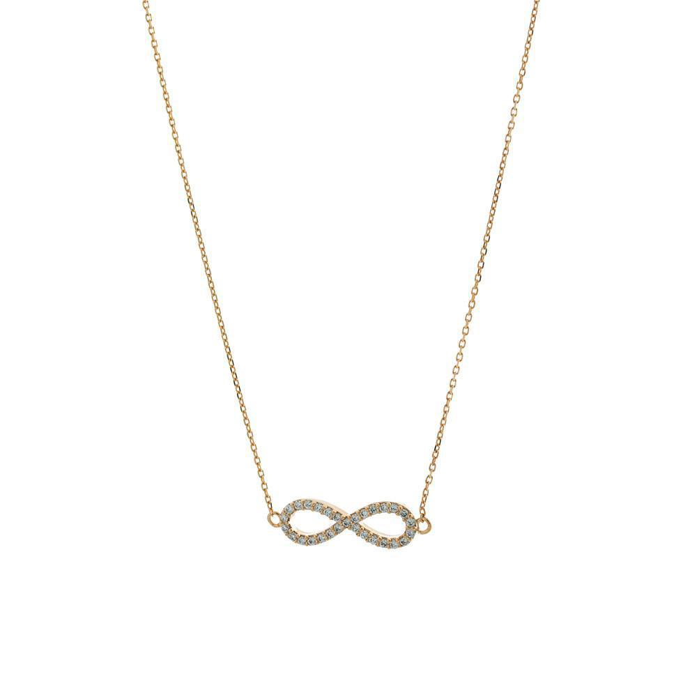 INFINITY ROSE GOLD CRYSTAL NECKLACE