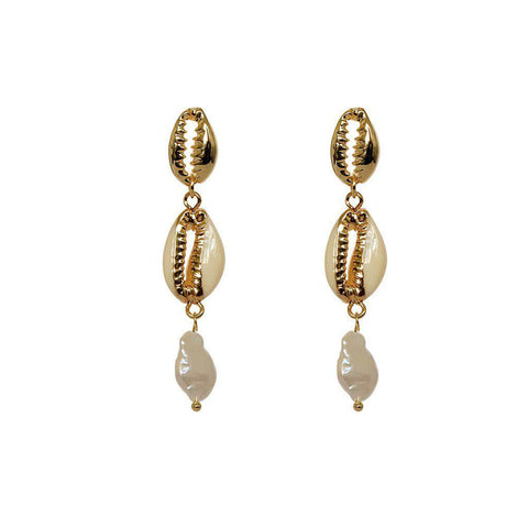 ISLA FRESH WATER PEARL SHELL EARRINGS