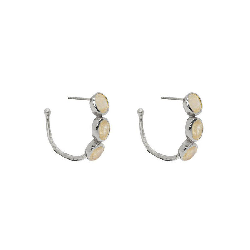 IVAH 2 MICRON GOLD MOONSTONE STUDS