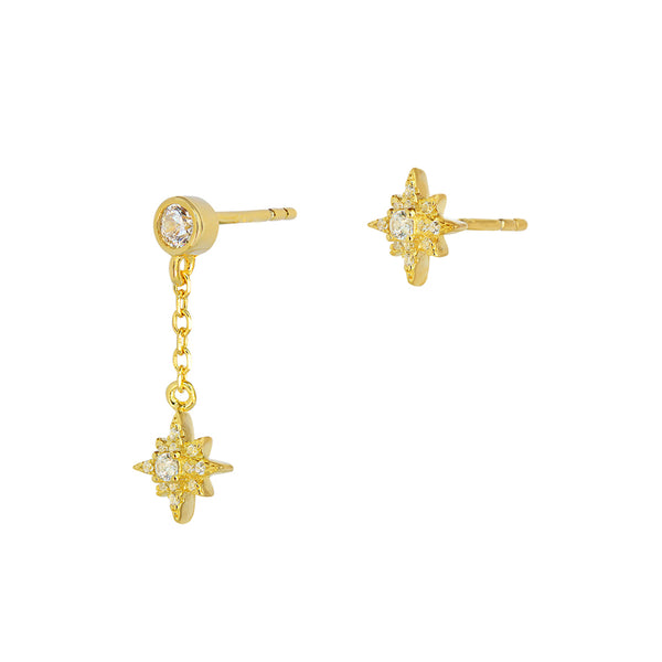 Estrella star drop earrings