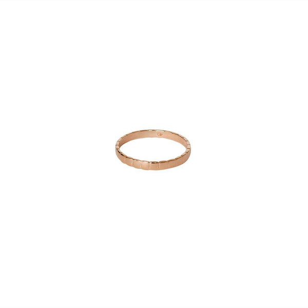 JACINTA 2 MICRON ROSE GOLD RING