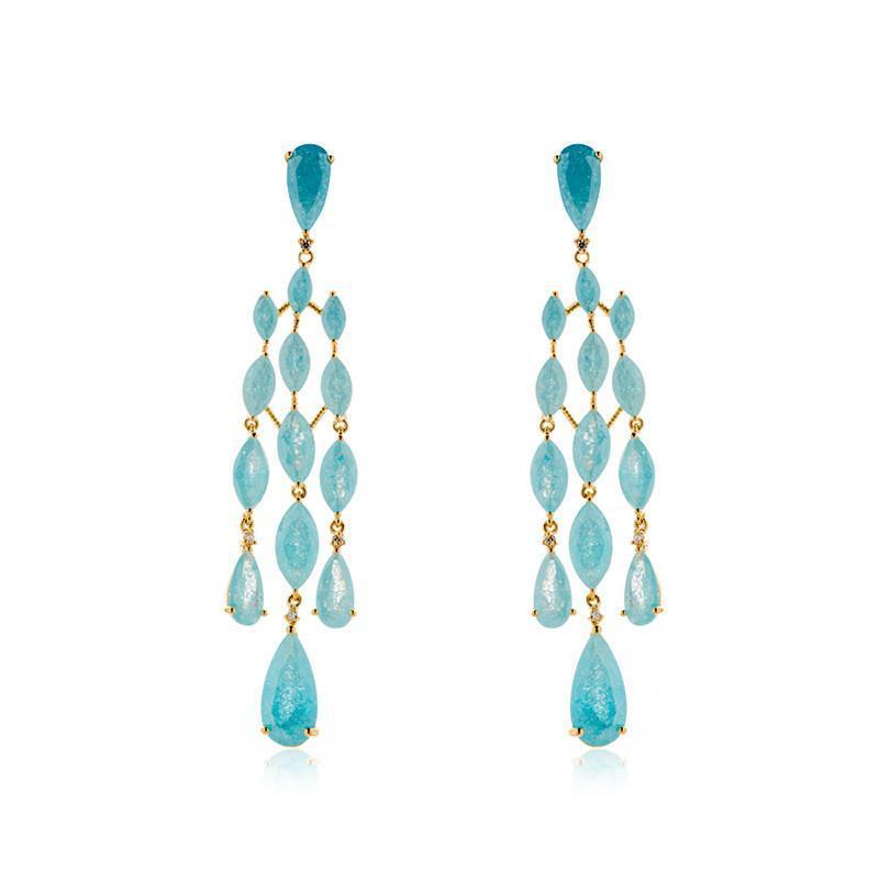 JACKIE BLUE CRYSTAL EARRINGS-Earrings-MEZI