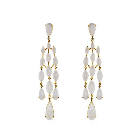JACKIE WHITE CRYSTAL DROP EARRINGS-Earrings-MEZI