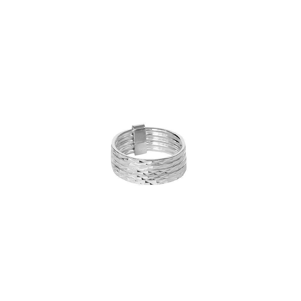 JAGO SILVER MULTI-LAYER RING