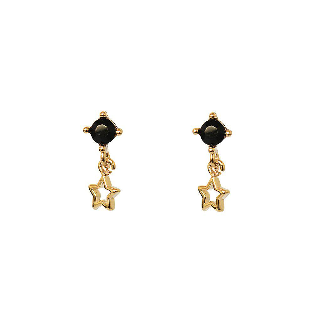 JANA GOLD STUD WITH STAR DROP EARRING