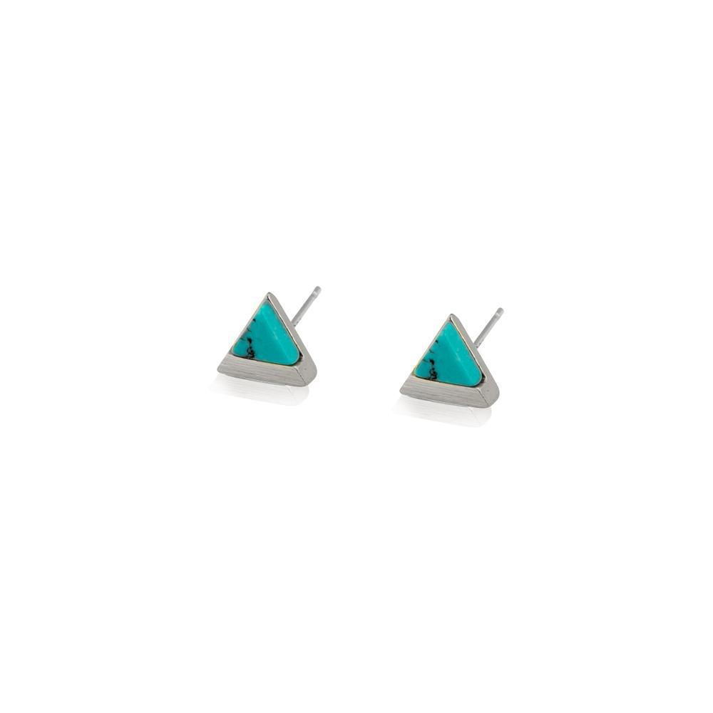 JARVIS TURQUOISE & SILVER STUD EARRINGS
