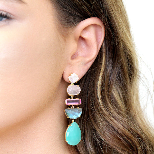 EMERIE SEMI-PRECIOUS EARRINGS