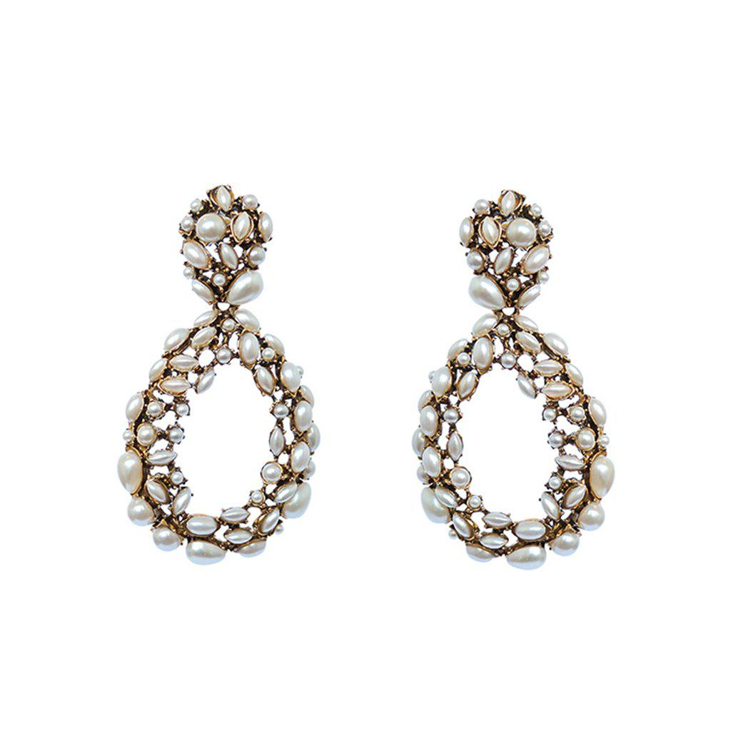 JULIE PEARL GOLD PLATED EARRINGS
