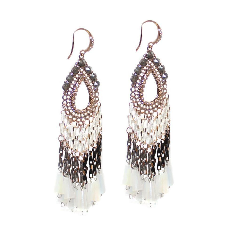KALA SEMI-PRECIOUS CRYSTAL EARRINGS