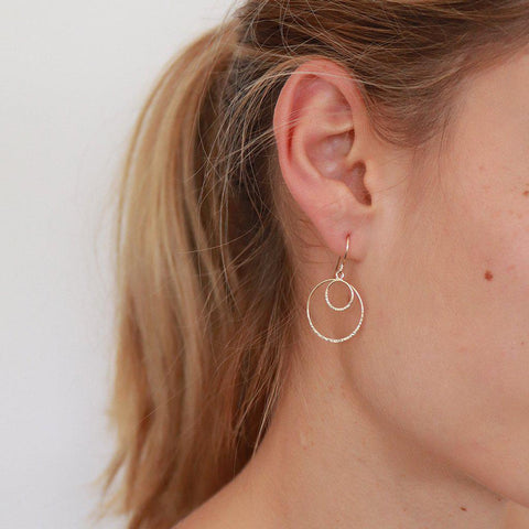 KENDI 2 MICRON GOLD ROUND DROP EARRINGS