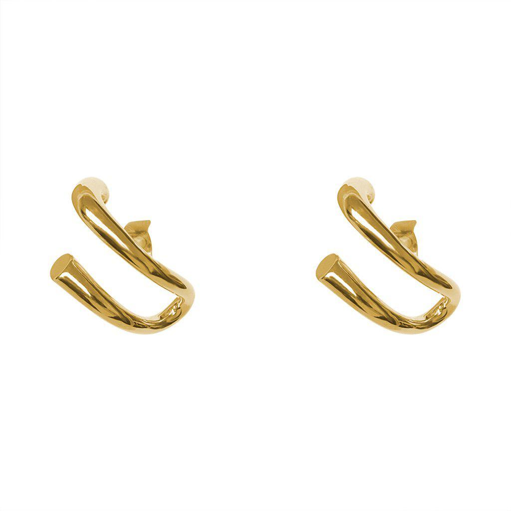 KHLOE GOLD SUSPENDER EARRINGS