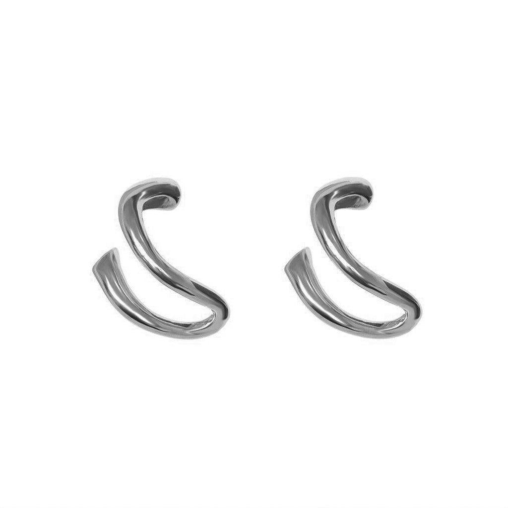 KHLOE SILVER SUSPENDER EARRINGS