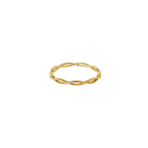 KIKI HOLLOW GOLD FILLED RING
