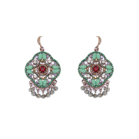 KORI MINT SEMI-PRECIOUS CRYSTAL EARRINGS-Earrings-MEZI